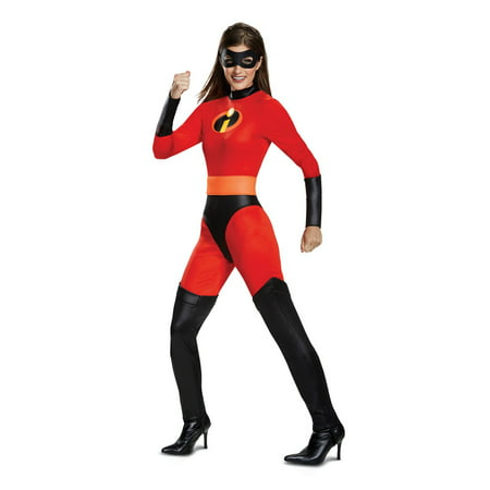 Incredibles 2 Mrs. Incredible Classic Adult Halloween Costume - Cheap Easy Adult Costumes