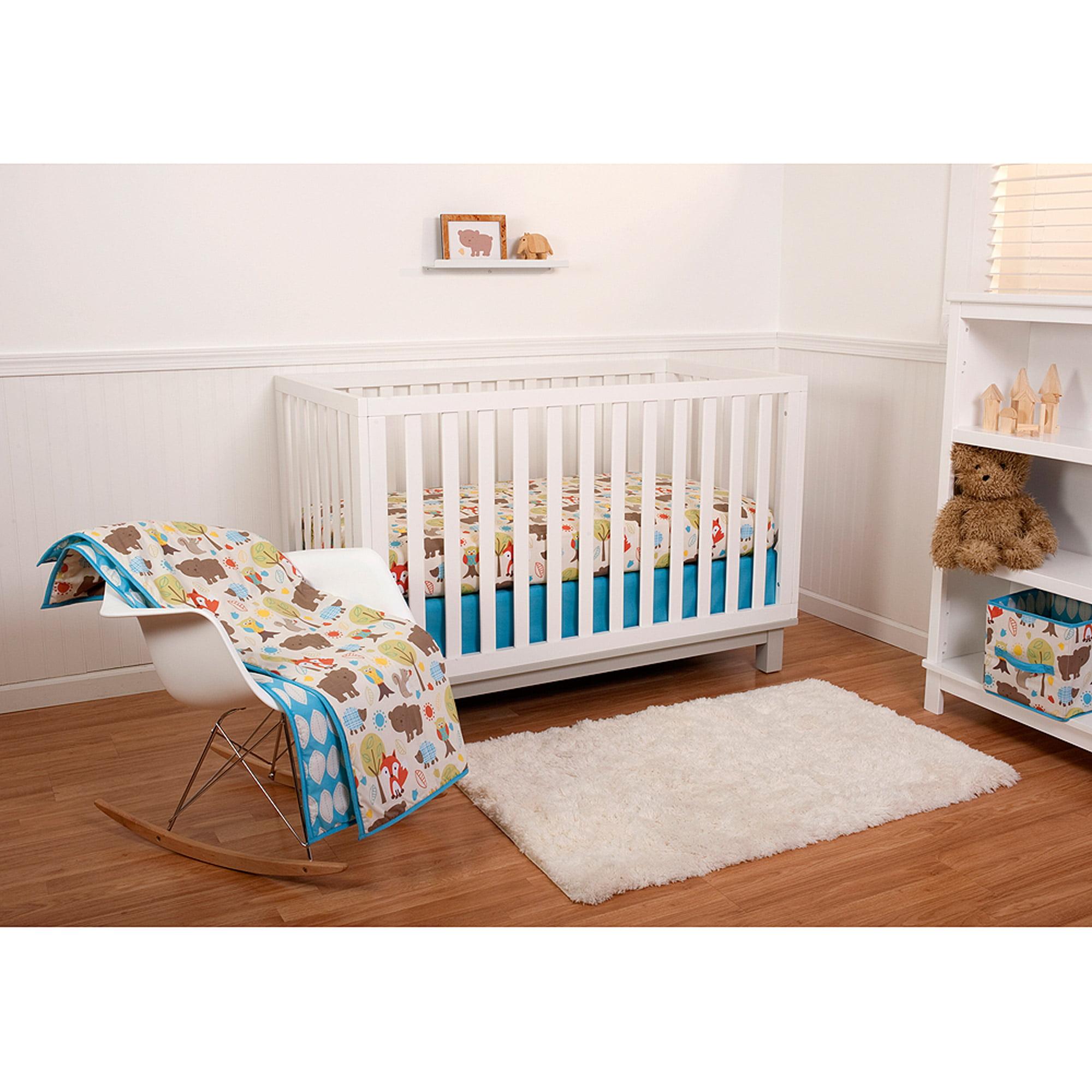 Pinwheel Woodlands 6-Piece Crib Bedding Set