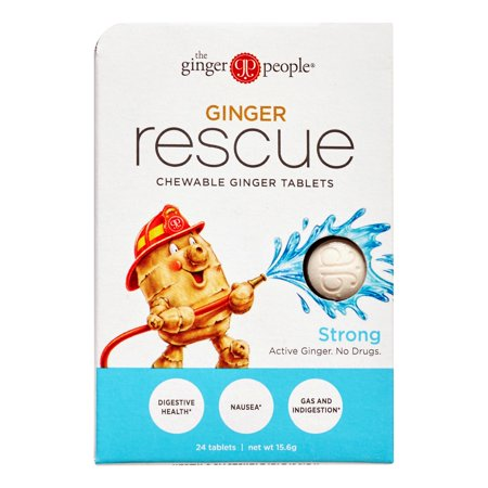 The Ginger People Chewable Ginger Tablets, Strong, 0.55 Oz (Ginger Tablets)