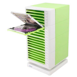 One Touch Swivel CD Rack � Green by