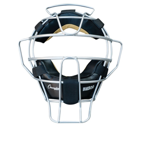 Champion Sports Umpire Face Mask Ultra Lightweight Silver by Champion Sports