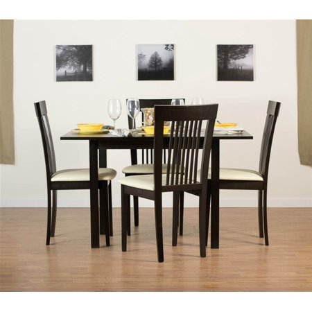 Flex Extendable Table Set with Hartford Dining Chairs in Coffee ()