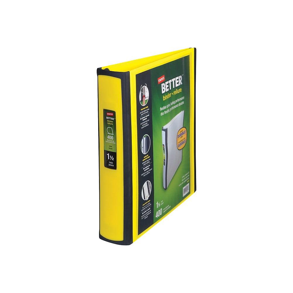 19060 Staples 827605 1.5 D-Ring Better Binder Yellow