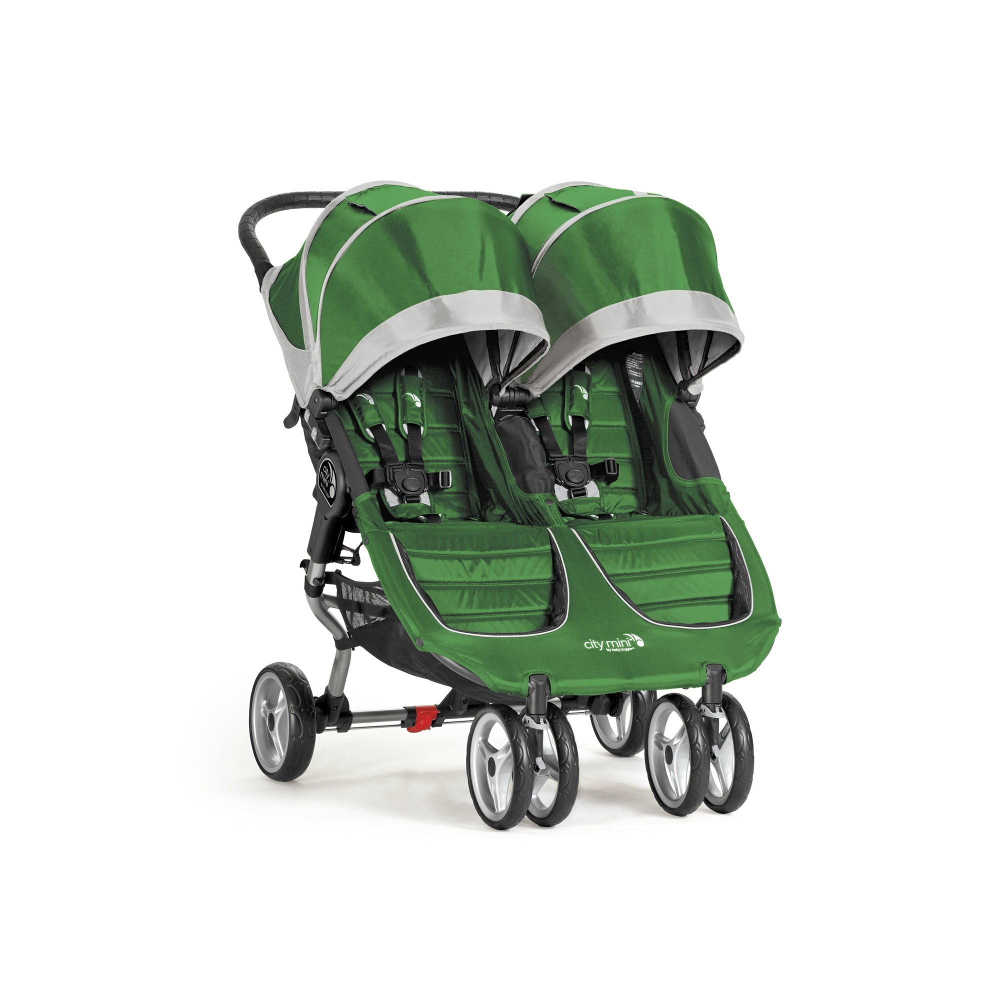Baby Jogger City Mini Double Stroller, Evergreen Gray by Baby Jogger