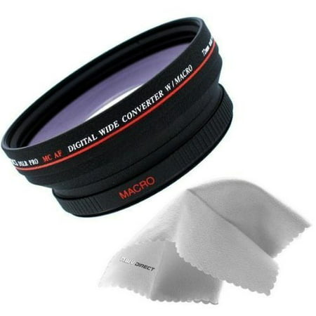 Sony Cybershot DSC-HX1 IS 0.5x High Definition Wide Angle Lens (72mm) Made By Optics + Lens Adapter (72mm) + Nwv