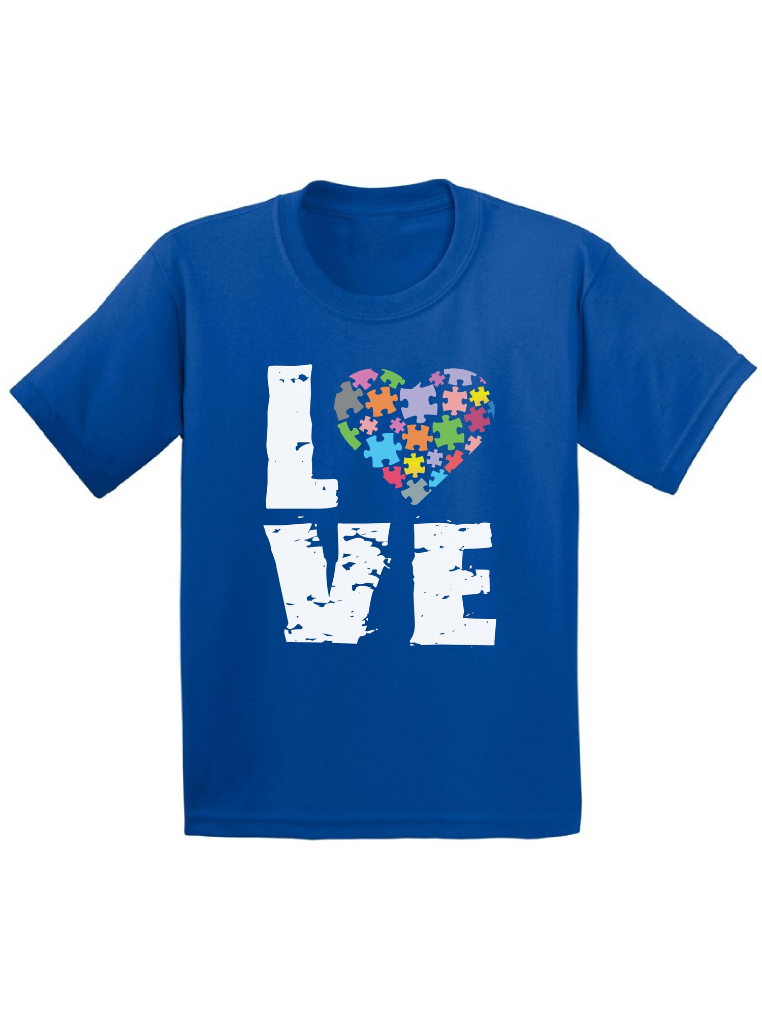 Awkward Styles Youth Love Puzzles Autism Awareness Graphic Youth Kids T-shirt Tops Autistic Support