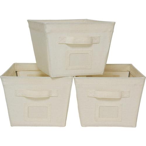 Mainstays 3-Pack Medium Bins