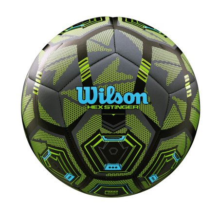 Wilson Hex Stinger Soccer Ball, Size 5 (Customized Soccer Balls)
