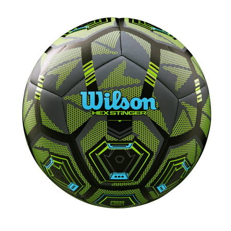 Wilson Hex Stinger Soccer Ball, Size 5 - Soccer Ball Glow In The Dark