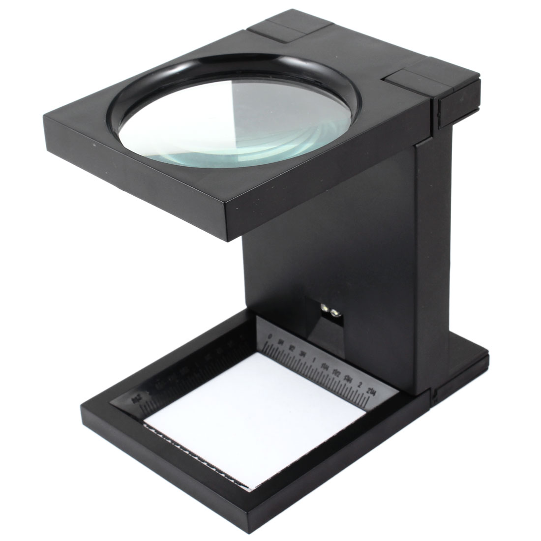 "Unique Bargains 3.1"" Dia 2.5X LED Light Plastic Folding Magnifying Glass Magnifier"