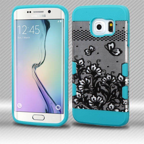 Samsung Galaxy S6 Edge Mybat TUFF Trooper Hybrid Protector Cover, Lace Flowers