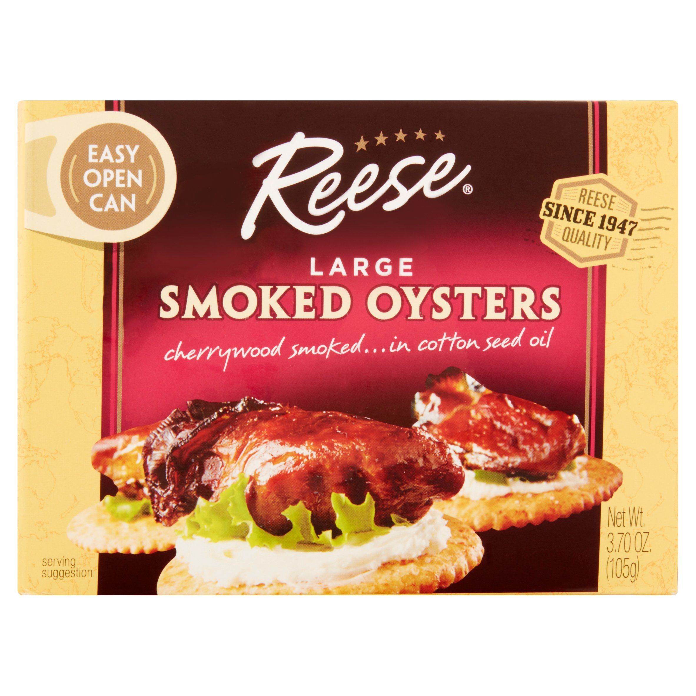 Reese Colossal Smoked Oysters, 3.7 oz by World Finer Foods