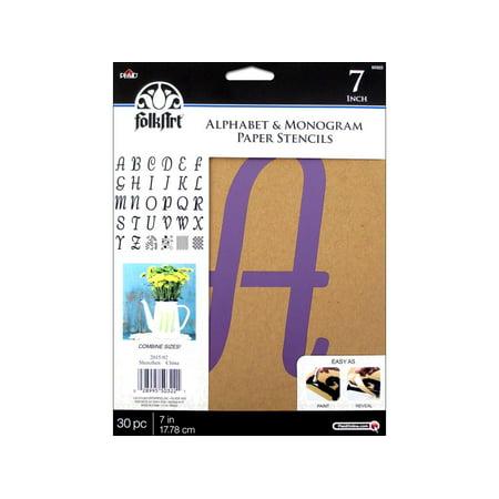 Printable Halloween Alphabet Stencils (Plaid Folkart Stencil Paper Alphabet Italic)