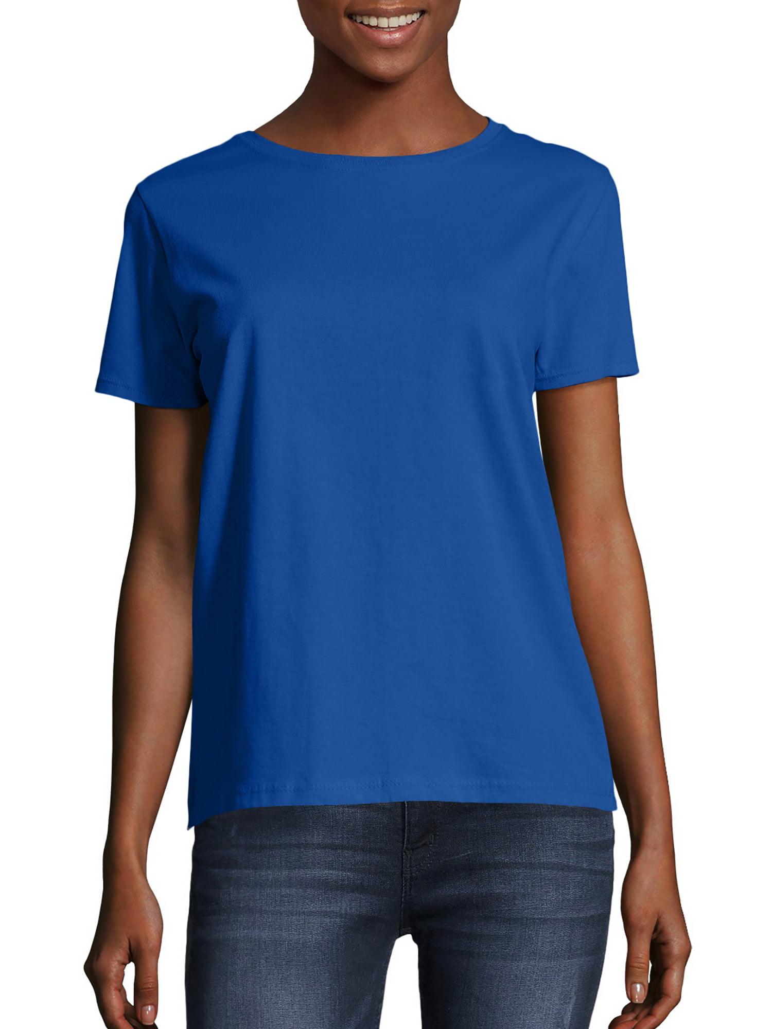 COOL BEARD Womens Clothing T Shirts Slim-Fit Plain ComfortSoft