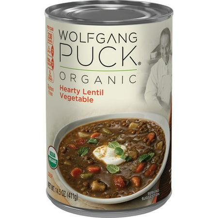 Wolfgang Puck Organic Hearty Lentil Vegetable Soup, 14.5 oz.
