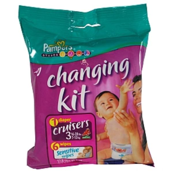 Pampers Cruisers Changing Kit - Size 3 Case Pack 20
