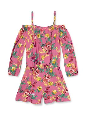 7031ccc48712 Product Image Floral Cold Shoulder Romper (Little Girls   Big Girls)