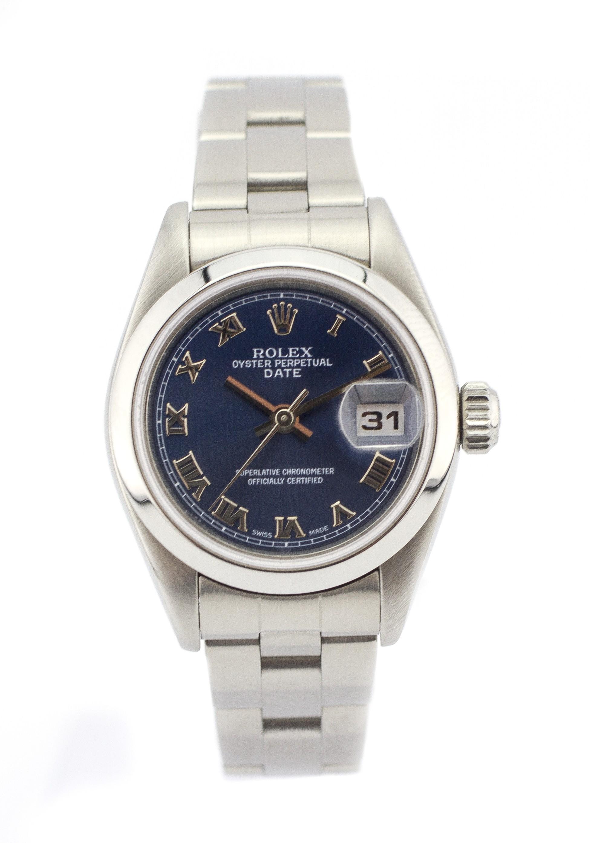 Pre-Owned Rolex Date 79160 Steel Women Watch (Certified Authentic & Warranty)