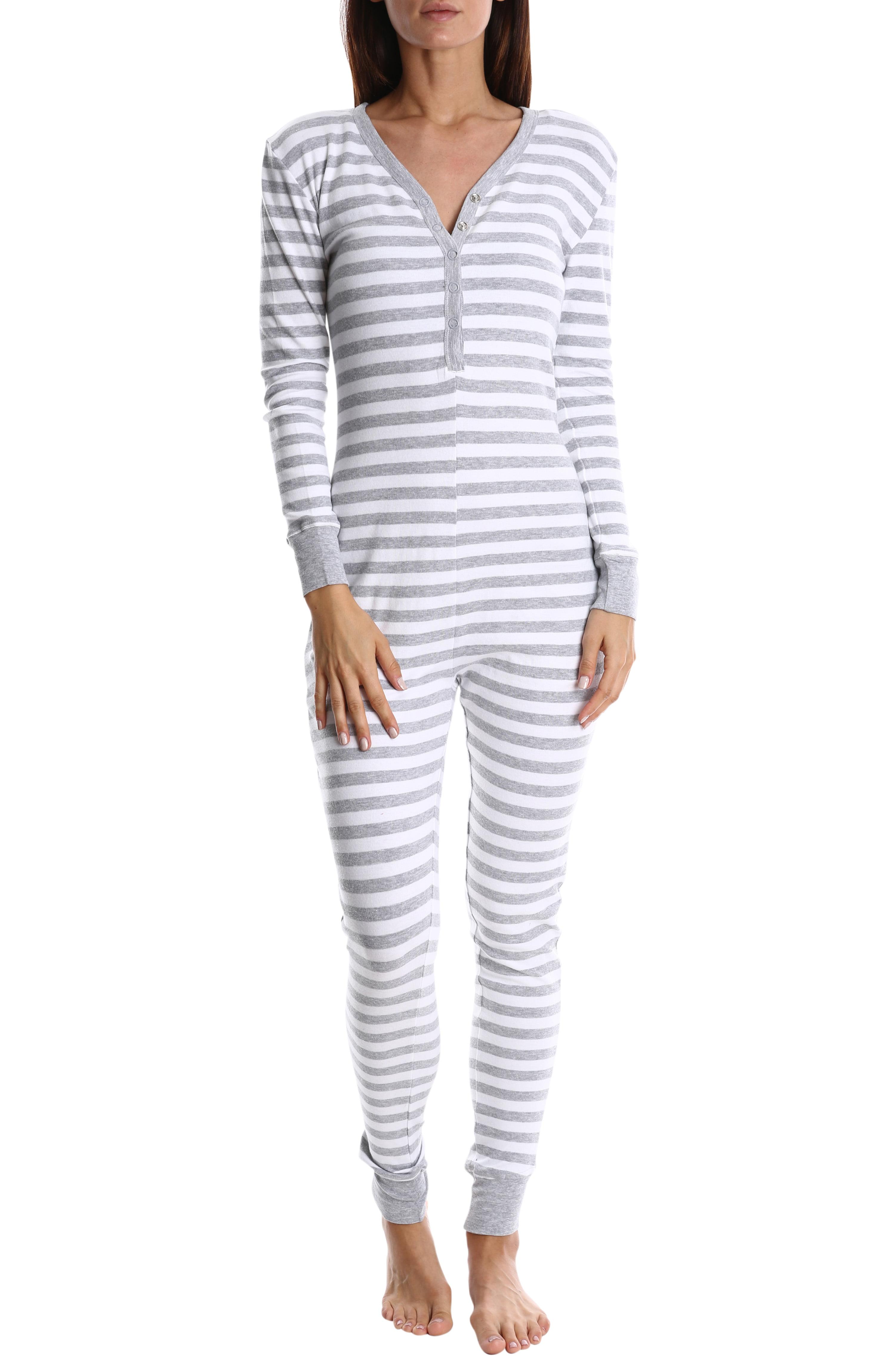 f28de7b17a55 Blis Women s Cotton Onesie Pajamas - Ladies One Piece PJ s   Sleepwear -  Grey
