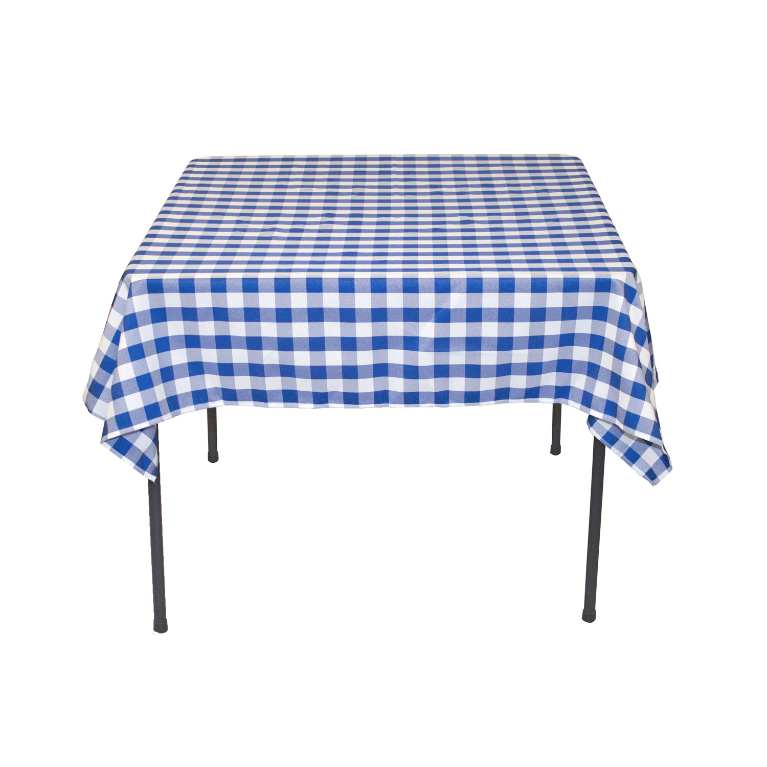 Square Polyester Tablecloth Blue U0026amp; White Checkered