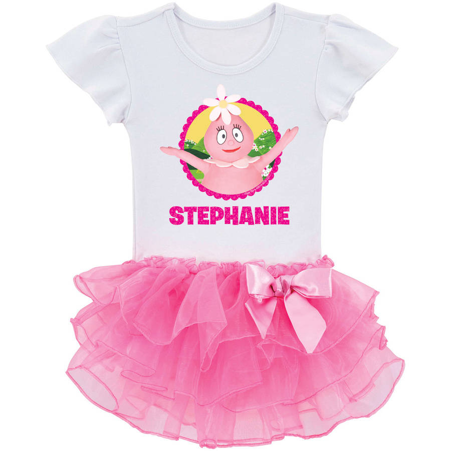 Personalized Yo Gabba Gabba Foofaland Fun Toddler Girls' Tutu Shirt, Pink