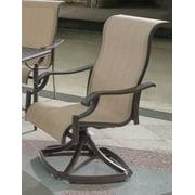 Single Sling Swivel Rocker Arm Chair - Set of 2