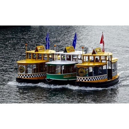 Laminated Poster Boats Group Water Water Taxi Taxi Transportation Poster Print 24 X 36