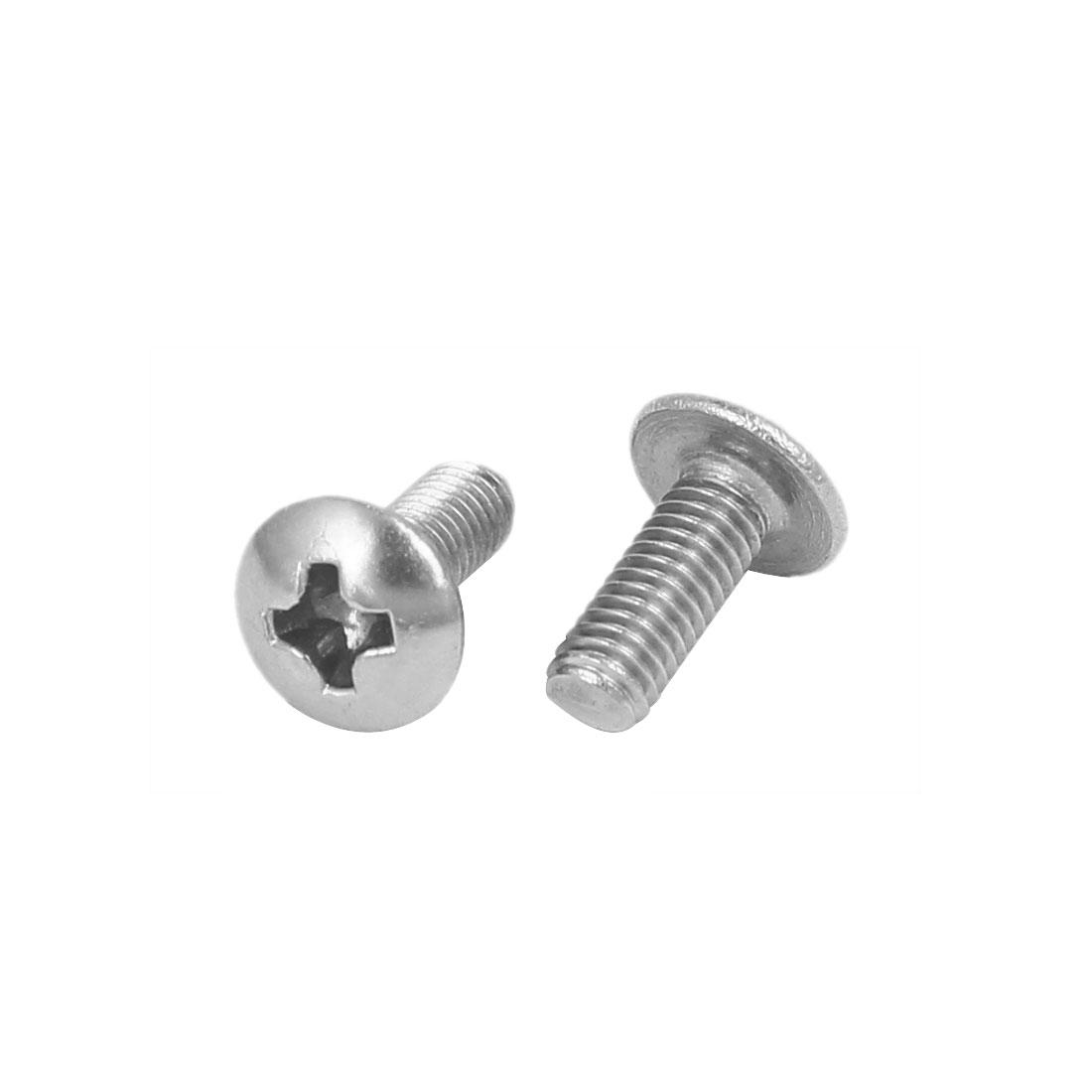 M3 x 8mm 316 Stainless Steel Truss Phillips Head Machine Screw Silver Tone 30pcs - image 1 de 2