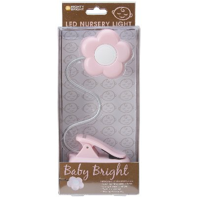 Mighty Bright LED Baby Bright Nursery Light-Pink Daisy by Mighty Bright