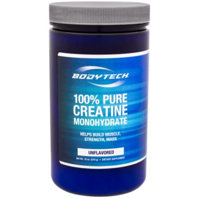 BodyTech 100 Pure Creatine Monohydrate Unflavored 5 GM/serving  Supports Muscle Strength  Mass (18 Ounce
