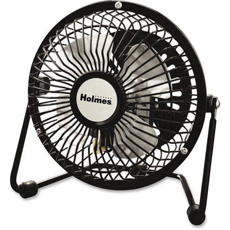 Holmes HNF0410A-BM Mini High-Veloc. Personal Fan, Black