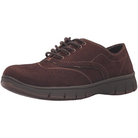 Suede Womens Oxford - Easy Street Women's Lucky Oxford, Brown Suede, 7.5 N US