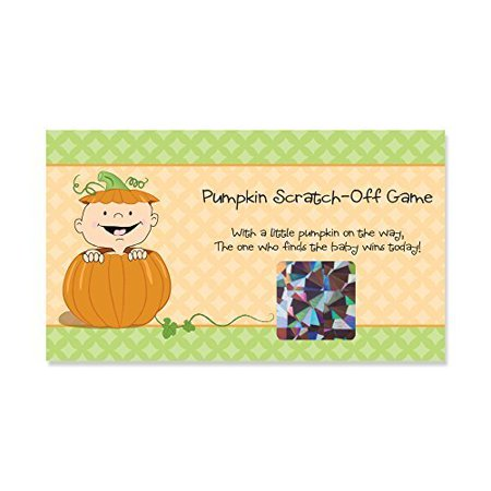 Little Pumpkin Caucasian - Party Game Scratch Off Cards - 22 Count