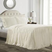 Lush Decor Ruffle Skirt 3-Piece Bedspread Set