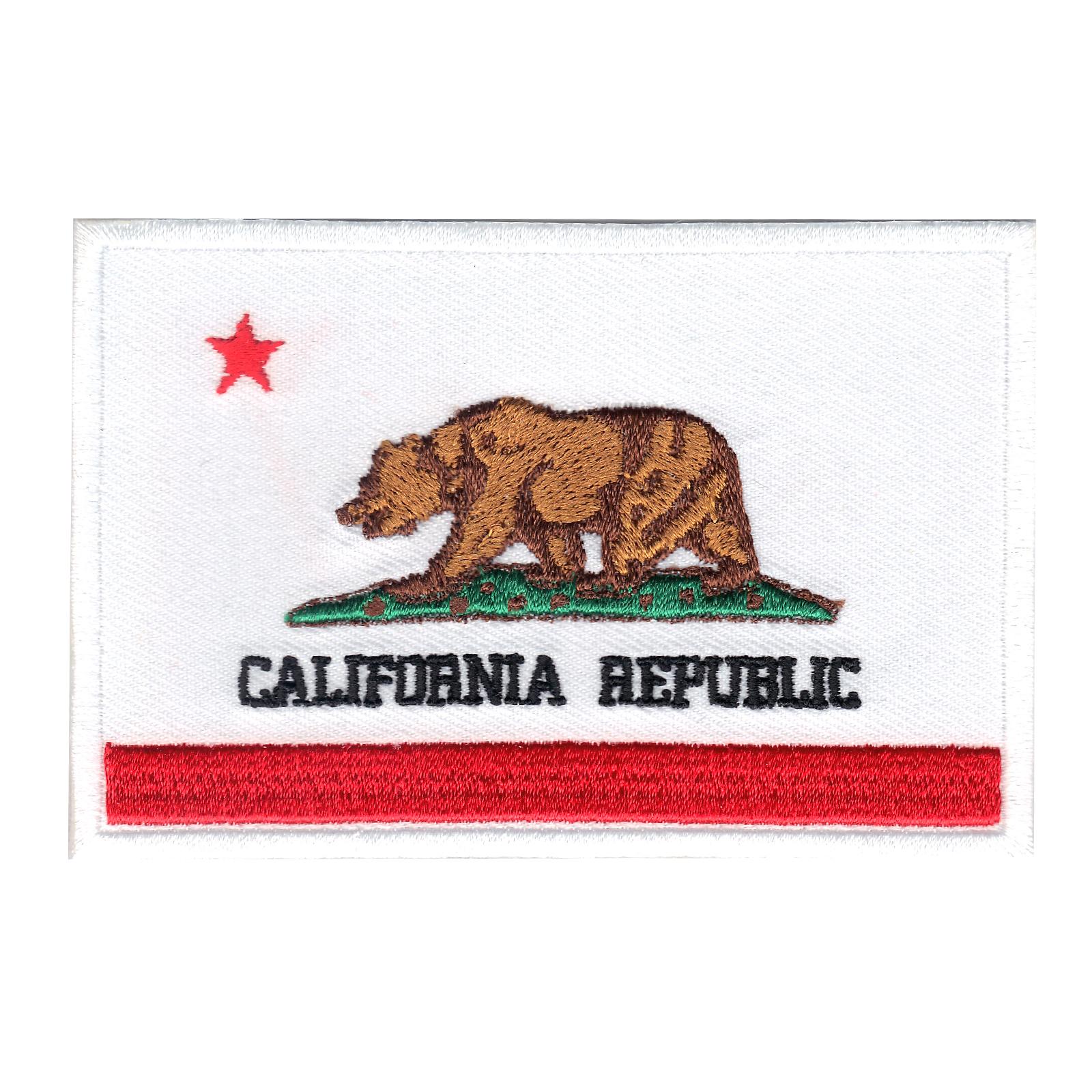 California Flag Iron On Applique Patch