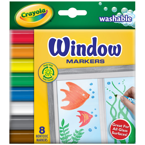 Crayola Window Markers, 8-Count