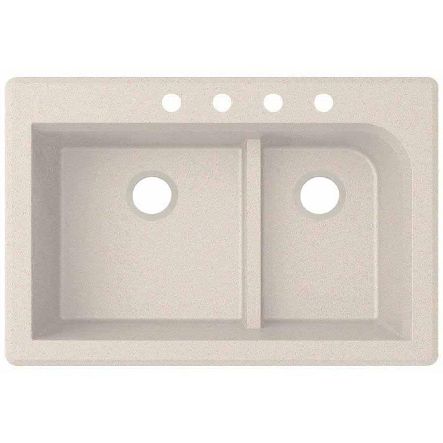 "SWAN Granite Dual Mount Kitchen Sink (22"" x 33"") with 4 F..."