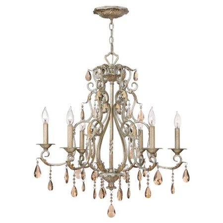 Hinkley Lighting 4776 Carlton 6 Light 1 Tier Crystal Chandelier