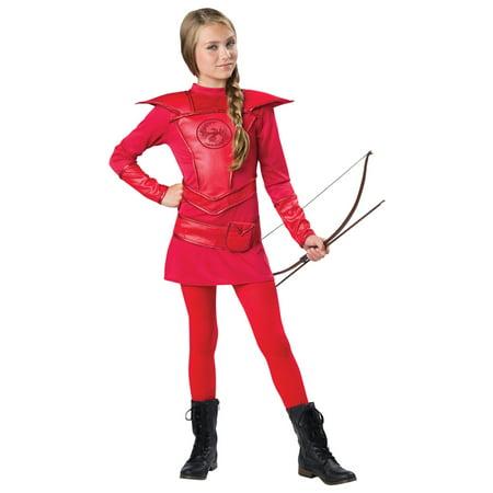 Morris Costumes Girls Warrior Huntress Red Tween Dress 10-12, Style IC18088M - Dresses 10-12