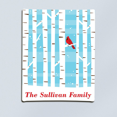 Personalized Winter Cardinal Canvas