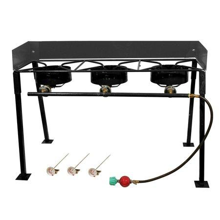 King Kooker, #CS42, Portable Propane 3-Burner Outdoor Camp Stove with Detachable