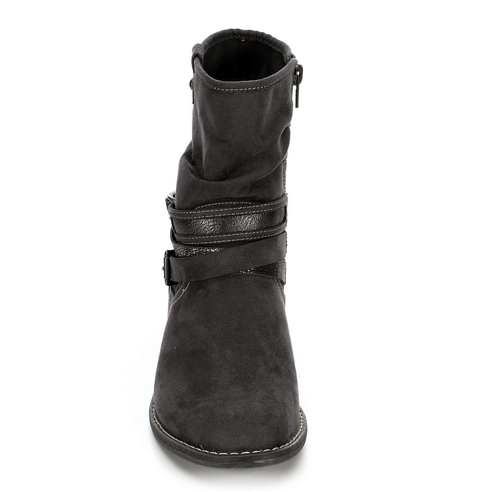 48b48a66b229 XAPPEAL - XAPPEAL Womens Shin High Low Heel Slouch Boot Shoes - Walmart.com