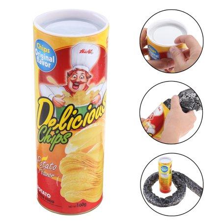 Potato Chip Can Skillful Novelty Joke Prank Jump Snake Halloween Funny Tricky Toy Gift for $<!---->