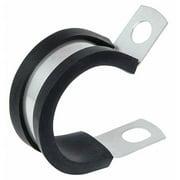 KMC COL0409AL 1/4 In Dia. Aluminum, Rubber Cushion Clamp, 0.281 Hole