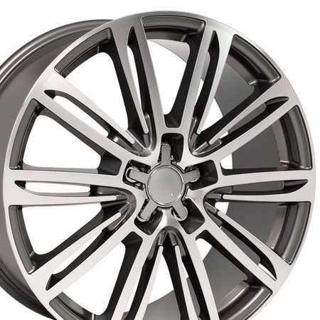 2005 Audi Tt Wheels - 20 Inch A7 Style wheel Fits: Audi A5 A4 A6 A7 A8 TT | AU21 Gunmetal Machined 20x9 Rim Hollander 58982