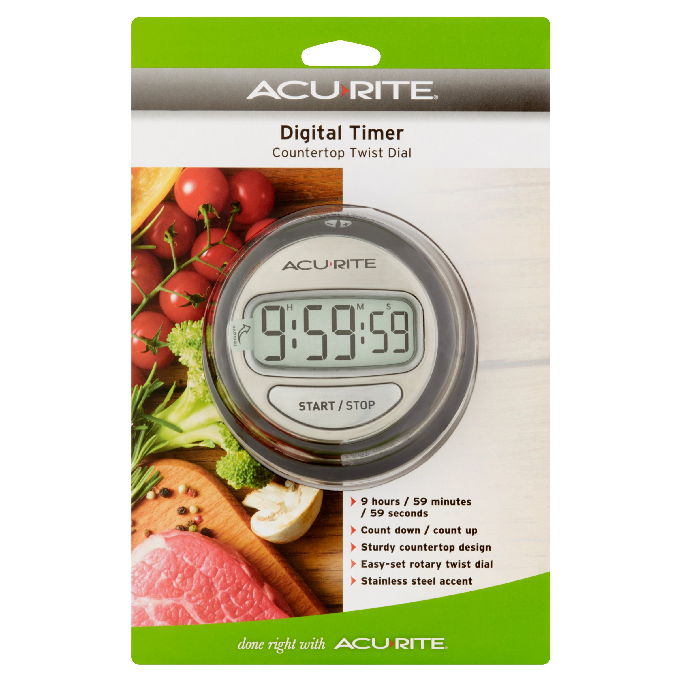 Acu Rite Countertop Twist Dial Digital Timer by Chaney Instrument Co.