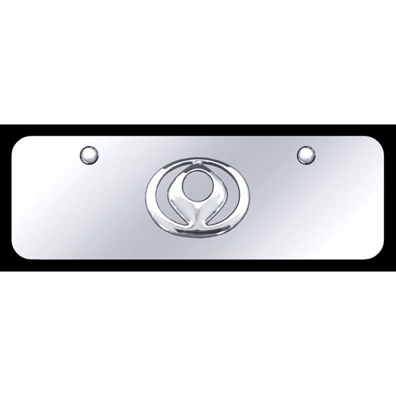 Au-TOMOTIVE GOLD Mazda Old-Logo Chrome on Chrome Mini - Walmart com