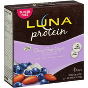 LUNA Protein Berry Greek Yogurt High Protein Bars, 1.59 oz, 6 count