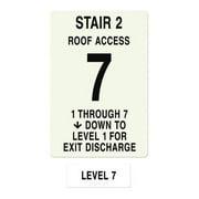 INTERSIGN NFPA-PVC1812(21A7) NFPASgn,StairId2,RoofAccssA,Flr Lvl 7 G0265030