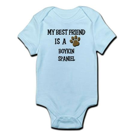 CafePress - My Best Friend Is A BOYKIN SPANIEL Infant Bodysuit - Baby Light
